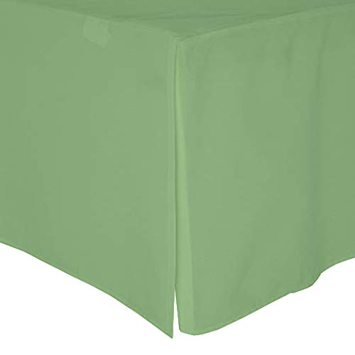 (Crib Bed Skirt Pleated, 100% Natural Cotton, Nursery Crib Toddler Bedding Skirts for Baby Boys or Girls, 14