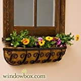 Mariposa Iron Hay Rack Window Basket w/ Coco Liner – 30 Inch Review