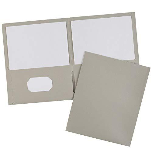 Avery Two-Pocket Folders, Gray, Box of 25 (47990) ()