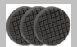 - 3 Pack Cobra Cross Groove 6.5 Inch Gray Finishing Pads