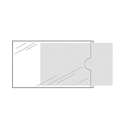Visitenkartentaschen Selbstklebend Transparent 20 Oder 100 Stück 95 X 60 Mm Schmale Seite Offen Visitenkartenhüllen Zum Einkleben