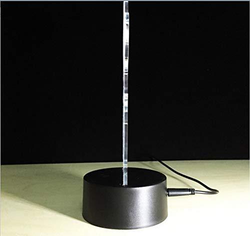 Lámpara de mesa Illusion tridimensional Lámpara de noche con toque ...