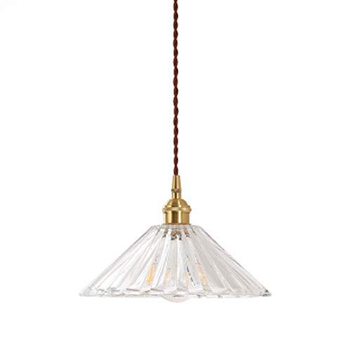 LTLCBB Creative Nordic Pendant Light,Minimalist Restaurant Light,Bedroom Bedside Lamp,Brass Umbrella Glass Chandelier,Hall, Bar,Club