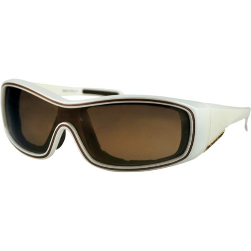 Bobster Zoe Convertible Oval Sunglasses,Pearl Frame/Gold Mirror Lens,One Size ()
