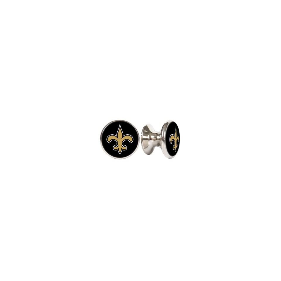 New Orlean Saints NFL Stainless Steel Cabinet Knobs / Drawer Pulls (2 pack)