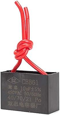 ICQUANZX Condensador de Ventilador de Techo Condensador 2 Cables ...