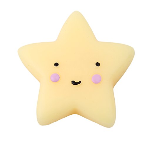 Meolin Fashion Mini Anti-stress Squeeze Healing Fun Toy Stress Reliever Decor,Yellow sea stars,1.771.30in Star Stress Reliever