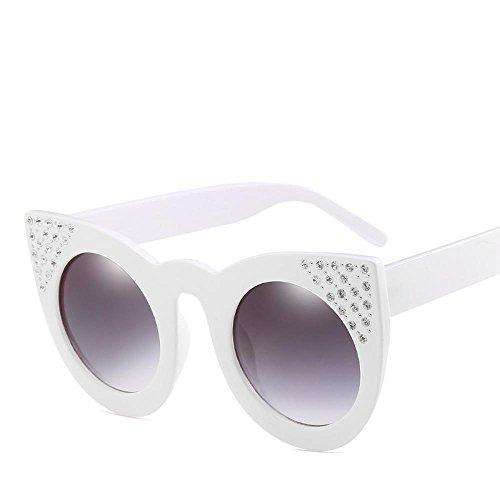 Aoligei Lunettes de soleil fashion européens et américains grand cadre  réflectorisé marée luxe femelle diamant lunettes e19801b8fd7c