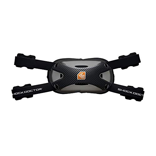 Shock Doctor Ultra Carbon Chin Strap for Football., ADULT S/M, BLACK/ BLACK
