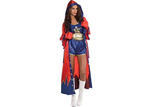 AMSCAN Knockout Sexy Boxer Halloween Costume for Women, Small, with Included Accessories
