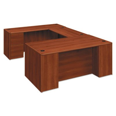 10700 Single Pedestal Desk, Full Right Pedestal, 72w x 36d x 29 1/2h, Cognac, Sold as 1 Each by Generic