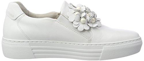 Scarpe Derby Donna Gabor Stringate Comfort Basic Weiss Bianco fqwIWaE