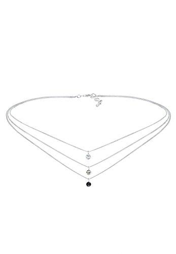 Elli - Collier court - Argent 925 - Cristal Swarovski - 36 cm - 0108730916