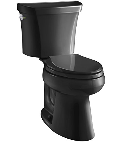 KOHLER K-3989-7 Wellworth Highline Two-Piece Dual-Flush Elongated Toilet with Class Five Flush System and Left-Hand Trip Lever, ()