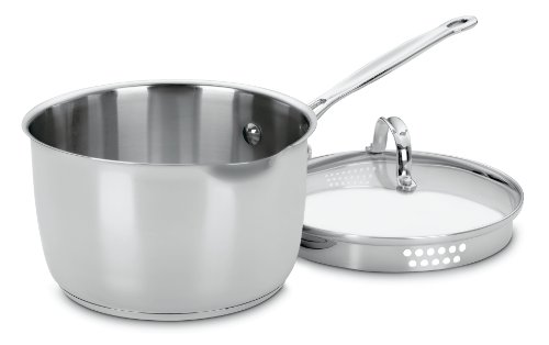 Cuisinart 7193-20P Chef's Classic Stainless 3-Quart Cook and Pour Saucepan with Cover (Cuisinart 3 Quart Saute Pan compare prices)