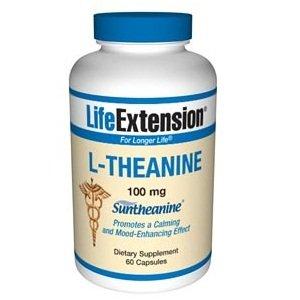 Prolongation de la vie L-théanine 100mg Capsules, 60-Count