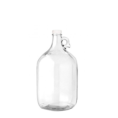 1/2 Gallon Glass Jug Reusable Water Bottle Jug BPA Free With Cap and Finger Holder - Clear