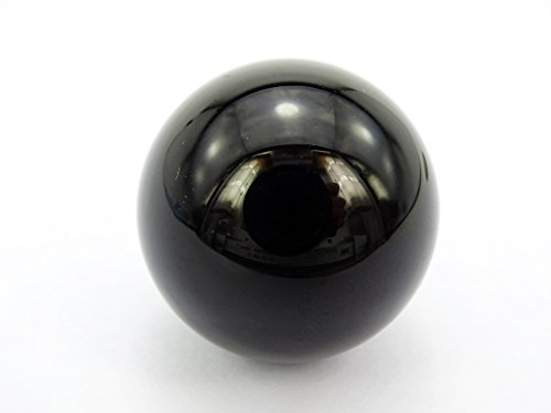 jennysun2010 1 piece Natural Black Onyx Gemstone Collectibles Round Ball Crystal Healing Sphere Finger Health Massage Rock Stones 30mm With Wood Stand