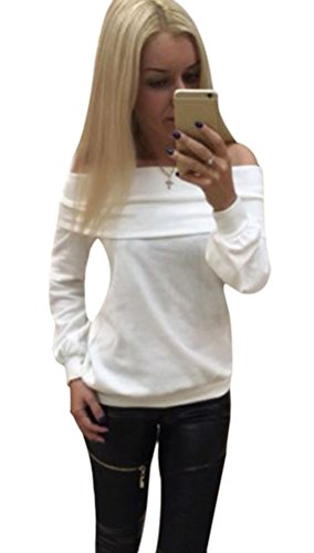 Halife Womens Shoulder Sweater T shirt product image