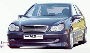 Rieger Front Lip - Mercedes Genuine Rieger Avant Garde W203 C Class Sedan Front Spoiler Lip