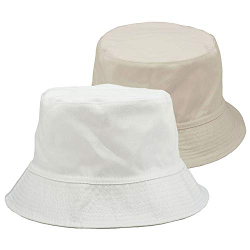 FALETO Bucket Hat Boonie Hat Wide Brim Fishing Hat Reversible Cotton Casual Plain Cap - Hat Bucket Adult