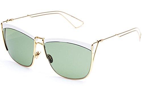 2c11e83b02 Christian Dior Sunglasses SO ELECTRIC 266DJ White Gold Frame Green ...