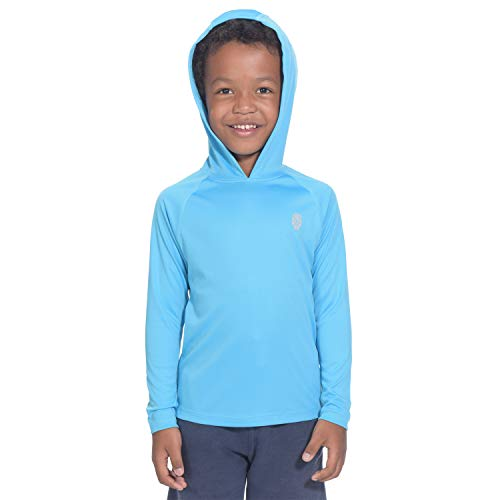 Hoodies for Youth Boys Protection Tops - Long Sleeve Performance T-Shirt Blue L