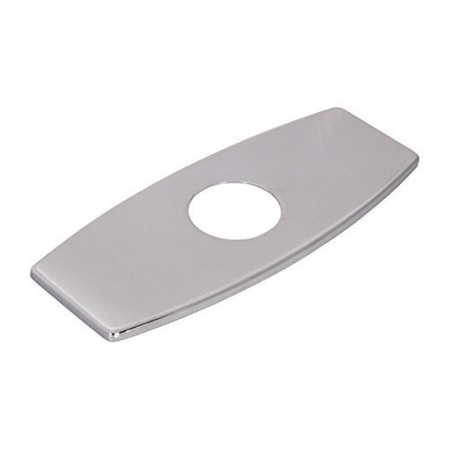 Wovier Chrome 3-to-1 Rectangle Shaped Polished Sink Hole Cover Deck Faucet Plate Escutcheon by Wovier by Wovier