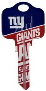 New York Giants Kwikset Blank House Keys Kw1 - NFL Licensed