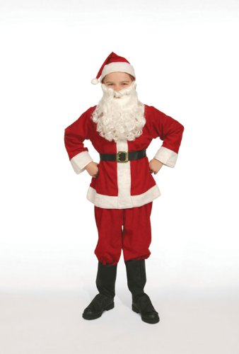 Complete Santa Claus Suit Set Child Costume Size 12 Large by Halco -