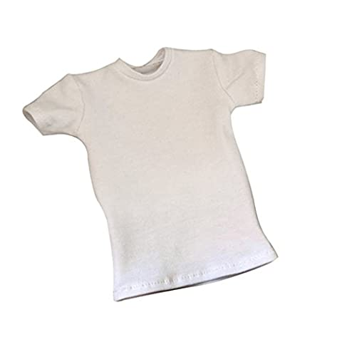 Jili Online 1/6th Scale White T-Shirt for 12'' HT/DID/SS/DML/TC Male Action Figure Body (12 In Male Doll)