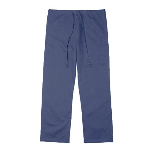 Pinnacle Textile SP61U 4.25 OZ 65/35 Polyester/Cotton, UNISEX NON REVERSIBLE SCRUB PANT-X-Small-Navy (Xs Reversible Unisex Pants)