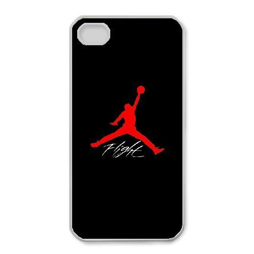 iPhone 4,4S Phone Case White Jordan logo QY7036309