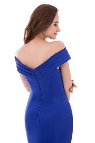 Zug Damen 36 Ballkleider Aiyana Meerjungfrau fur Rueckenfrei Kapelle Blau Ausschnitt Grun V Elegantes Kleid Abendkleid WaPHOSPI