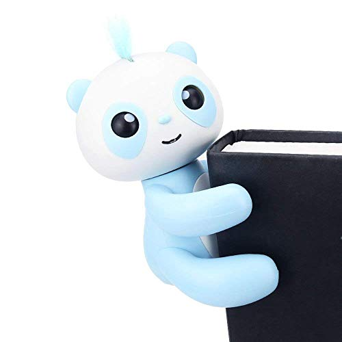 (Finger Puppets Finger Panda Interactive Baby Toy for Children Electronic Pet Toy for Kids Baby Best Gift (Blue))