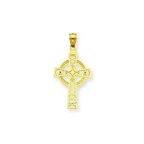 14k Celtic Cross With Eternity Circle Pendant