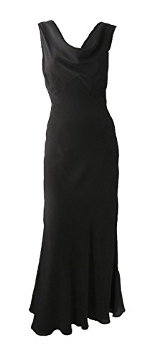 Vintage 1930s Style Black Silk Gown by Adley & Company