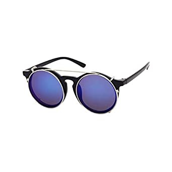 83f605f7d6 Shopystore C1 Vintage Steampunk Round Men Sunglasses Flip Separable Lens  Metal Frame Fash  Amazon.in  Clothing   Accessories