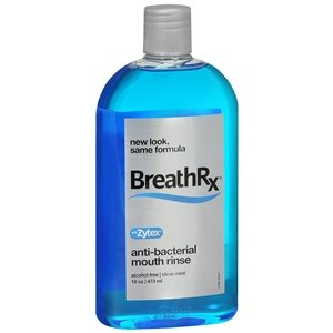 (Breath Rx Anti-bacterial Mouth Rinse, Clean Mint - 16 Oz (3-pack))