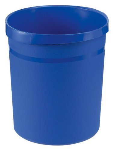 HAN Grip 237/312 x 350mm 18L Wastepaper Bin with Recessed Grip - Blue