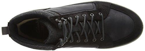 Clarks Lorsen Top, Herren Hohe Sneakers Schwarz (Black Wlined Lea)