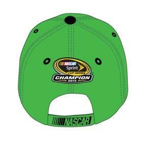 NASCAR 2015 Champion Championship Crispy Kyle Busch #18 MMS M&Ms Joe Gibbs Green Hat Cap One Size Fits Most OSFM with Adjustable Strap