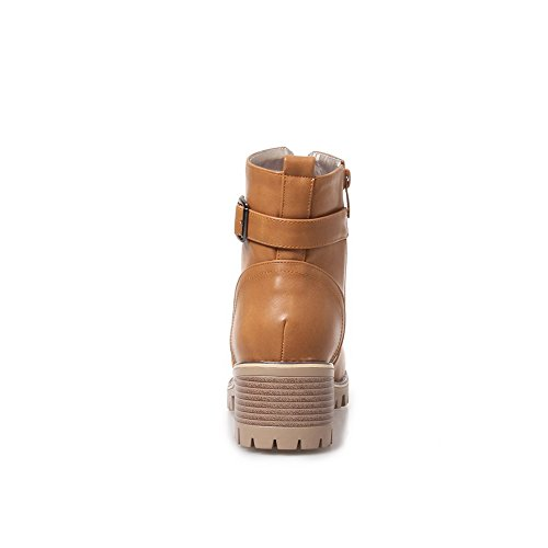 Buckle Womens BalaMasa Fashion Boots BalaMasa Womens Yellow ABL09888 Urethane Platform Uqpw6xI