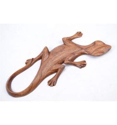 Artisanal Gecko L/ézard Salamandre d/écor Mural L30cm en Bois