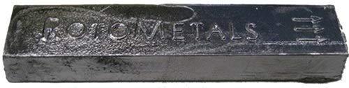 RotoMetals Lyman #2 Bullet Ingot (90% Lead, 5% Tin, 5% Antimony) About 5 Pound Ingot