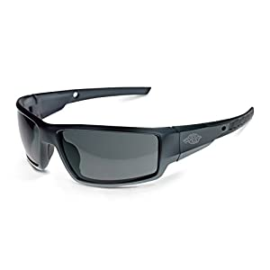 Crossfire Eyewear 41291 CUMULUS Safety Glass with Smoke Lens and Aluminum Gray Frame