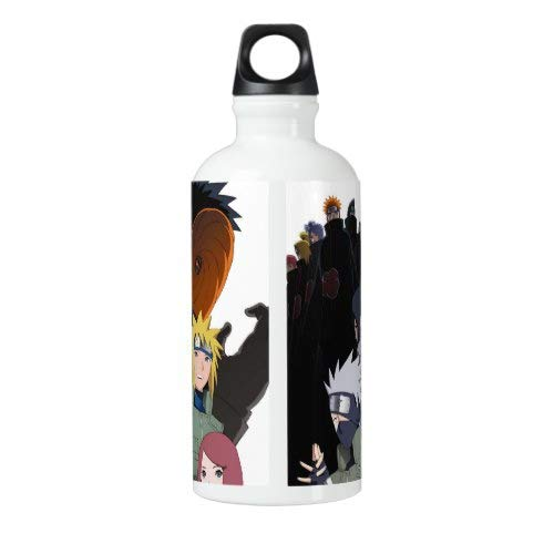 Cycling Bottle Steel Bottle for Water Naruto Sport Bottle Outdoor Yoga Camping Hiking anime characters Travel Flask Stainless Steel Naruto Water Bottle 18 Oz
