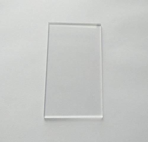 Transparent Gloss Acrylic Rectangle Sheet, Clear Acrylic Rectangular Place Card Material, Rectangle Crafting Mosaic & Wall Tiles (4
