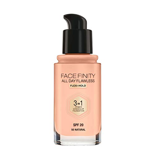 Max Factor Facefinity All Day Flawless 3 In 1 Foundation SPF 20, No. 50 Natural
