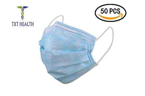 Anaheim Snap - TxT Health -Surgical Medical Disposable Blue Face Masks, Dental Hospital Mouth Masks, Medical Masks for Everyday Use, Face Mask for Flu Dust Bacteria, Face Mask for Allergy Pollen